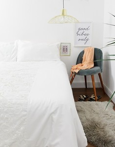 Комплект белого постельного белья с пайетками для двуспальной кровати River Island - Белый