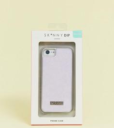 Блестящий чехол для iPhone 6/7/8/s/6 Plus/7 Plus/X/XS/XSMAX/XR Skinnydip Glacier - Фиолетовый