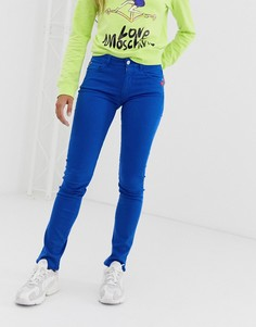 Синие джинсы скинни Love Moschino - Синий
