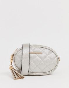 Стеганая сумка-кошелек на пояс ALDO Pounce - Черный