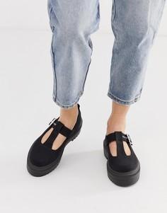 Черные туфли на плоской массивной подошве ASOS DESIGN Motivator - Черный