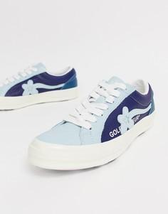 Синие кеды двух оттенков Converse x Golf Le Fleur One Star Ox - Синий