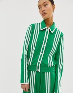 Зеленая спортивная куртка adidas Originals x Ji Won Choi - Зеленый