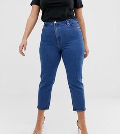 Синие узкие джинсы в винтажном стиле с завышенной талией ASOS DESIGN Curve - Синий