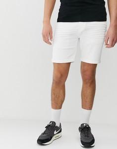Белые джинсовые шорты классического кроя Solid - Белый