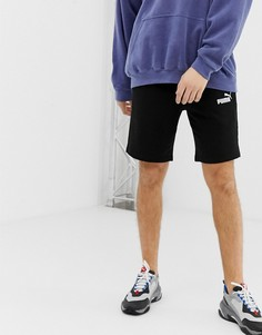 Черные шорты с логотипом Puma Essentials - Черный