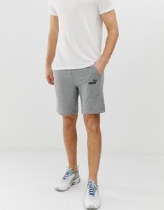 Серые шорты с логотипом Puma Essentials - Серый