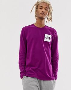 Фиолетовый лонгслив The North Face Fine - Фиолетовый
