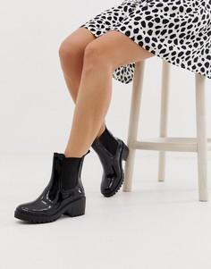 Черные ботинки на каблуке ASOS DESIGN Giddy - Черный