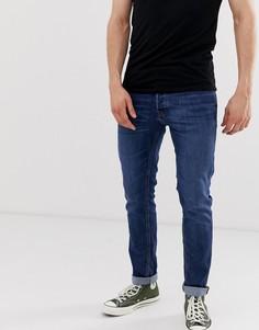 Суженные книзу синие узкие джинсы Jack & Jones Intelligence - Синий