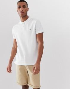 Белая футболка-поло с логотипом Jack Wills - Белый