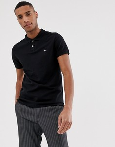 Футболка-поло черного цвета с логотипом Jack Wills Aldgrove - Черный