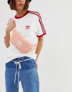 Розовая сумка-кошелек на пояс с логотипом adidas Originals - Розовый