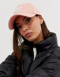 Розовая кепка с логотипом adidas Originals - Розовый