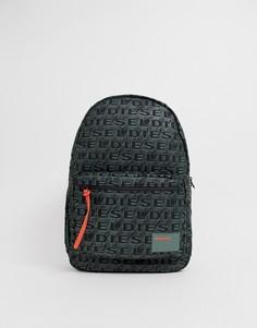 Черный рюкзак с принтом логотипа Diesel - Черный