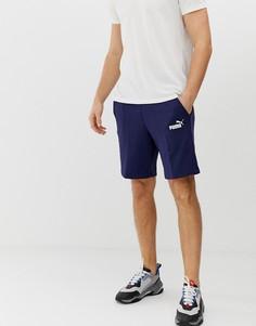 Темно-синие шорты с логотипом Puma Essentials - Темно-синий