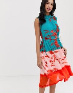 Платье миди с принтом Ted Baker Camelis - Мульти