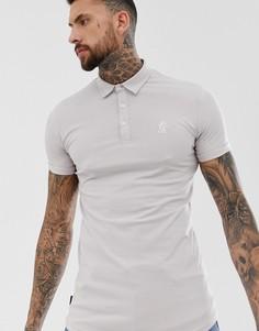 Трикотажная обтягивающая футболка-поло Gym King - Розовый