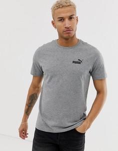 Серая футболка с маленьким логотипом Puma Essentials - Серый