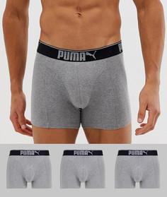 3 серых боксеров Puma - Серый