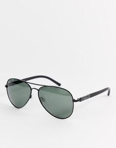 Черные солнцезащитные очки-авиаторы с поляризованными стеклами Esprit - Черный