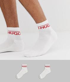 2 пары белых носков с логотипом HUGO - Белый