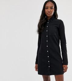 Черное джинсовое платье-рубашка ASOS DESIGN Tall - Черный
