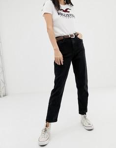 Джинсы в винтажном стиле с завышенной талией Hollister - Черный