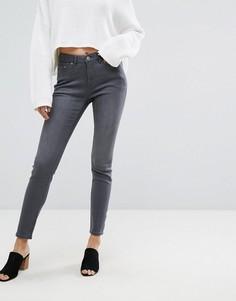 Облегающие джинсы с завышенной талией Esprit - Серый
