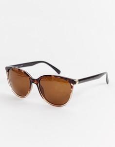 Черепаховые круглые солнцезащитные очки с поляризованными стеклами Esprit - Коричневый