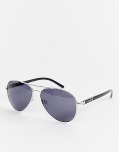 Солнцезащитные очки-авиаторы в серебристой оправе Esprit - Серебряный