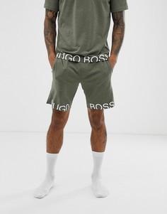 Шорты цвета хаки с логотипом BOSS Bodywear Identity - Зеленый