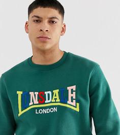 Зеленый свитшот с логотипом Lonsdale - Зеленый