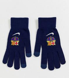 Перчатки Nike FC Barcelona - Темно-синий