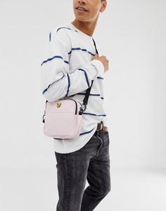 Розовая сумка для авиапутешествий через плечо Lyle & Scott - Розовый