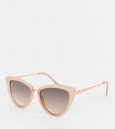 Солнцезащитные очки кошачий глаз в металлической оправе ALDO - Бежевый