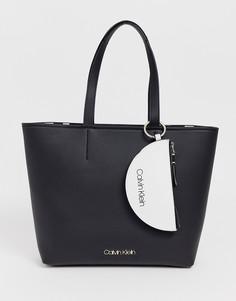 2f05b6cd0e51 Сумка-шоппер из искусственной кожи с кошельком Calvin Klein - Черный