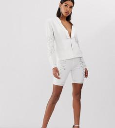 Белые шорты-леггинсы с отделкой Starlet - Белый