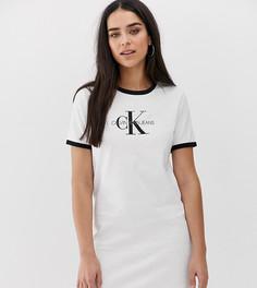 Платье-футболка с логотипом Calvin Klein Jeans - Белый