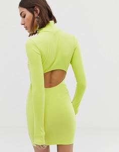 Облегающее платье с открытой спиной COLLUSION - Зеленый