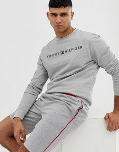 Серый свитшот с круглым вырезом и логотипом Tommy Hilfiger - Серый