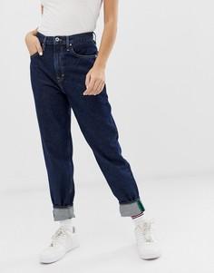 Суженные книзу джинсы с завышенной талией из переработанного хлопка Tommy Jeans - Синий
