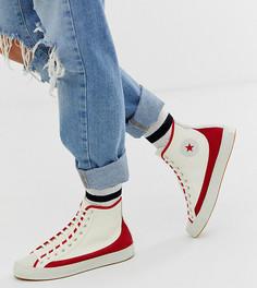 Белые кроссовки с красными вставками Converse Chuck Taylor Sasha Vintage - Красный