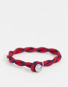 Красно-синий плетеный браслет Tommy Hilfiger - Красный