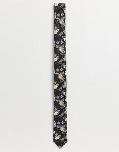 Розовый премиум-галстук с цветочным принтом Jack & Jones - Розовый
