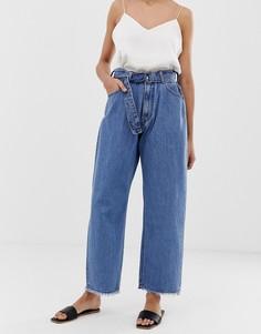 Свободные джинсы из органического хлопка с завышенной талией Kings Of Indigo - Синий