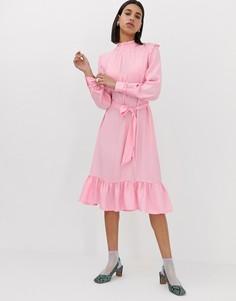 Платье мидакси с оборками Resume Millah - Розовый Résumé