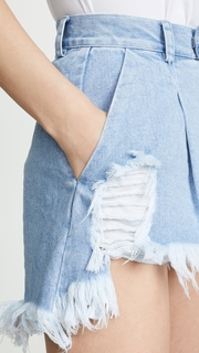 Ksenia Schnaider Distressed Shorts