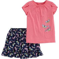 Комплект: футболка и юбка-шорты carter's для девочки Carters