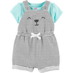 Комплект: футболка и полукомбинезон carter's для девочки Carters